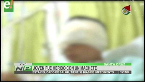 Joven herido con un machete tiene 36 días de impedimento