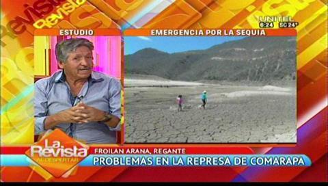Los valles cruceños en emergencia por sequía en la represa de Comarapa