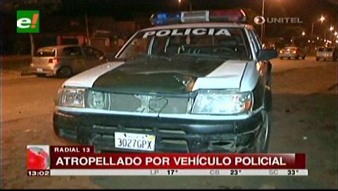 Una patrulla policial atropella a un peatón en la zona de la Radial 13