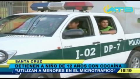 Santa Cruz: Felcn detiene a un menor de 12 años con cocaína