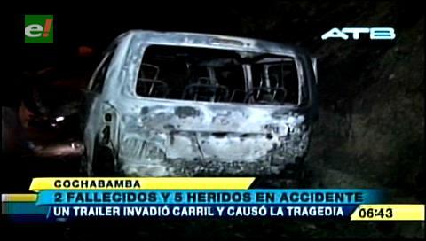 Cochabamba: Dos personas mueren tras incendiarse un Surubí