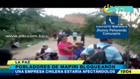 Comunarios de Mapiri denuncian a concesionaria chilena por explotación de oro