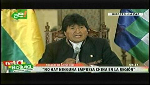 Evo niega que alguna empresa china desvíe el agua destinada a La Paz