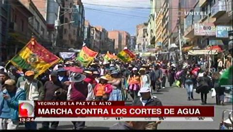 """El Alto advierte con """"guerra del agua"""""""