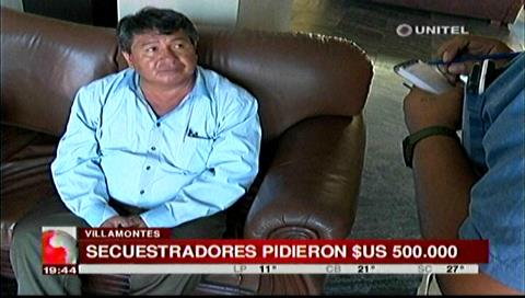 Secuestradores pedían $us 500 mil para liberar a víctima y su hijo en Villamontes