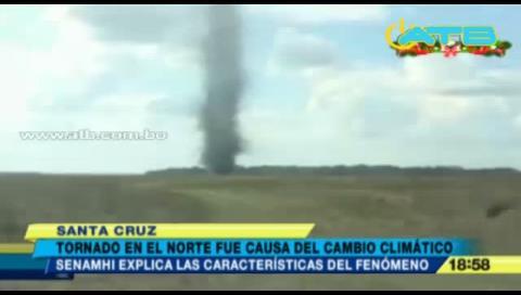 Graban tres tornados al norte de Santa Cruz