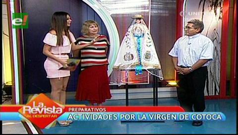 Llevan a la Virgen de Cotoca a un set de TV
