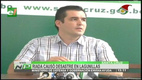 Gobernación cruceña asiste a las familias afectadas en Lagunillas