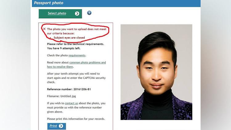 Rechazan pasaporte a asiático por