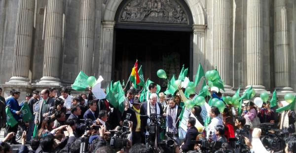 Algunos de los actos oficiales por el aniversario de esa agrupación política tuvieron lugar en la sede de Gobierno.