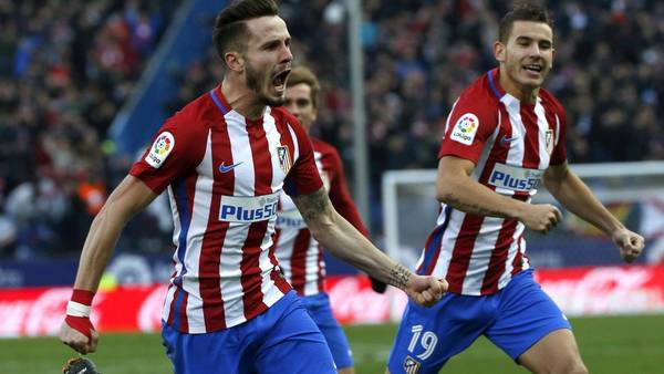 Saúl Ñíguez celebra el gol que le permite a Atlético de Madrid volver al triunfo. (EFE)