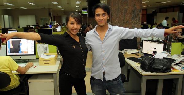 Bismar Balladares y Tatiana Villalobos