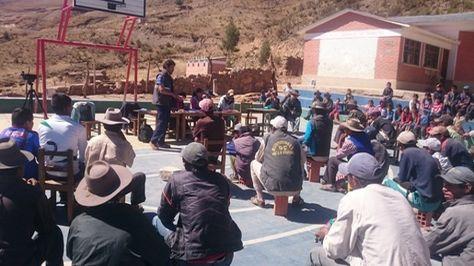 El 2016 se realizó la primera consulta previa en Chuquisaca.
