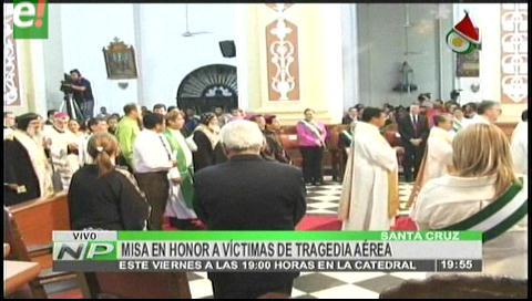 Se celebrará una eucaristía por los bolivianos fallecidos en accidente aéreo