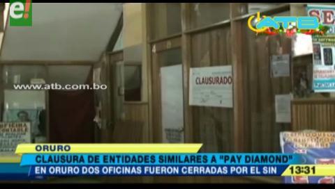 Clausuran negocios piramidales ilegales en Oruro y Sucre