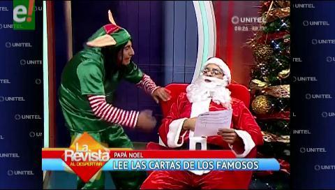 """""""Papá Noel"""" lee las cartas de los famosos"""