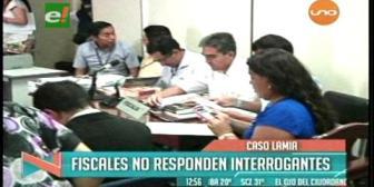 Caso LaMia: Fiscales no responden a interrogantes y evaden a los medios