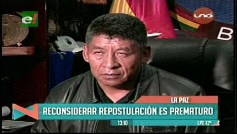 Senador Montes: Reconsiderar una repostulación de Morales es prematuro