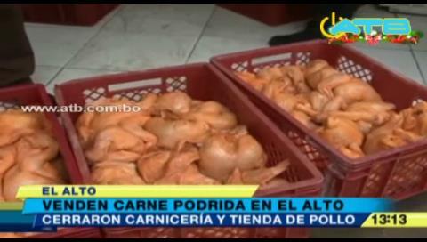 Venden carne podrida en El Alto