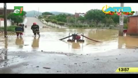Lluvia inundó calles tarijeñas