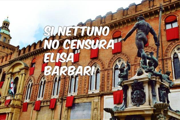"""""""Sí a Neptuno, no a la censura"""": con esta imagen Elisa Barbari protestó por la censura de su anuncio en Facebook"""