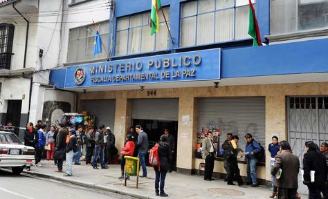 Oficinas de la fiscalía Departamental de La Paz.
