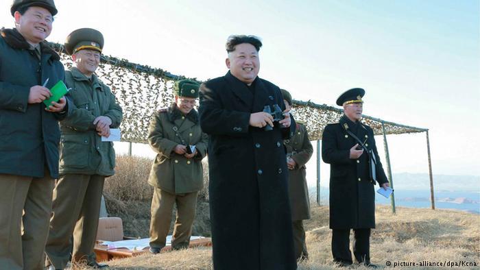 Nordkorea testet Schiff-Abwehrrakete (picture-alliance/dpa/Kcna)