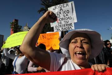 Protesta en Guadalajara contra el gasolinazo el pasado 7 de enero.