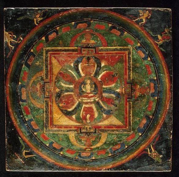 Este mandala tibetano tiene una antigüedad de entre tres y cuatro siglos