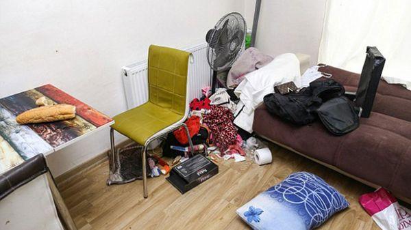 El departamento se encontraba desordenado y descuidado