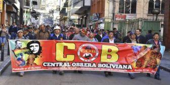 Central Obrera Boliviana rechaza el préstamo al agro con fondos de pensiones