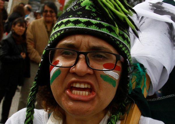 Una manifestante en Tijuana (Reuters)
