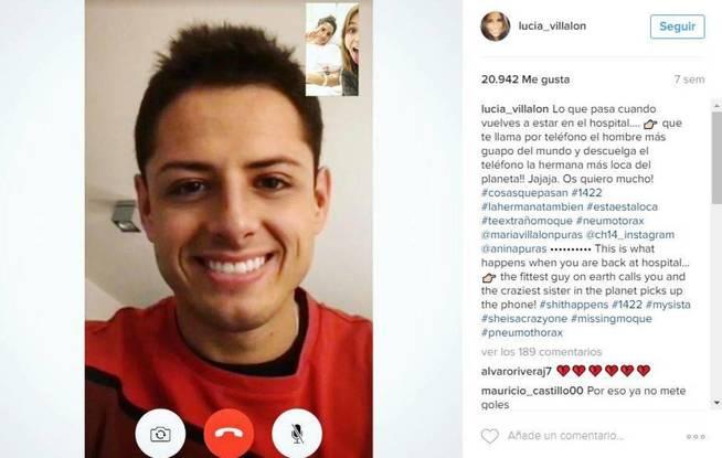 La última imagen de Chicharito en el Instagram de la periodista