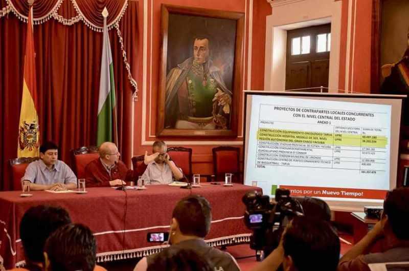 Gobierno le presta a Tarija Bs 161 MM para seis obras