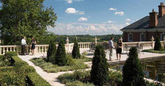 Uno de los jardines del Albermale Estate, en los condados vinícolas de Virginia.