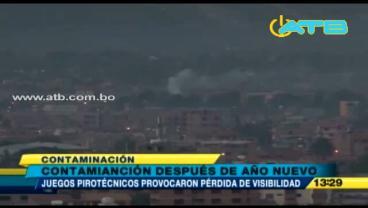Fuegos artificiales causaron contaminación durante los festejos de Año Nuevo