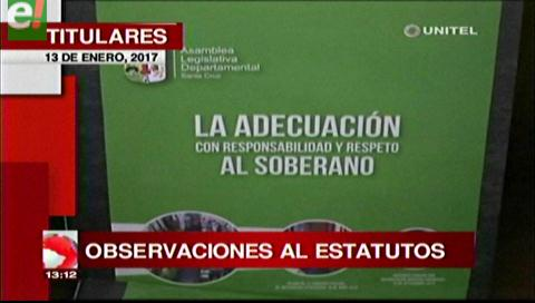 Video titulares de noticias de TV – Bolivia, mediodía del viernes 13 de enero de 2017