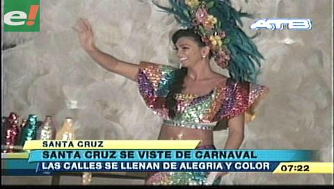 Los Chabacos y la reina del carnaval Pamela Justiniano derrocharon alegría en la preca