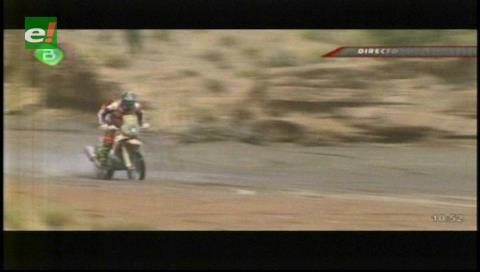 Dakar 2017: Joan Barreda, el primer competidor en pisar suelo boliviano