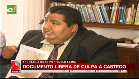 Caso LaMia: Abogado muestra documento de la DGAC que liberaría de culpa a Celia Castedo