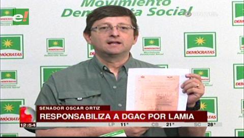 Senador Ortiz y el caso LaMia: El Gobierno escondió documentos de la DGAC