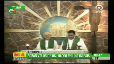 Santa Cruz: Roban de una iglesia, cálices y copas por un valor de Bs 10.000