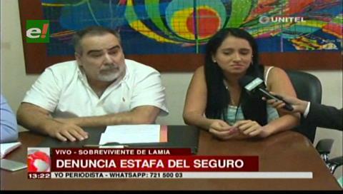 Ximena Suárez denuncia estafa del seguro de la aerolínea LaMia