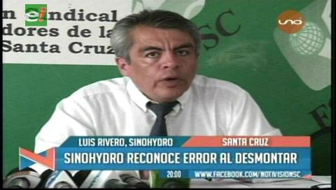 Sinohydro reconoce error al desmontar sin permiso de la ABT