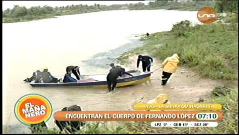 Rescatan a hombre ahogado en laguna Tom Hackett