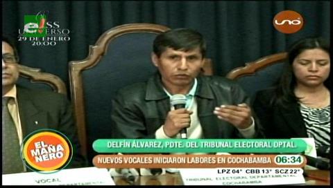 Delfín Álvarez es nuevo presidente del Tribunal Electoral de Cochabamba