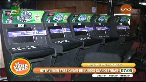 Intervienen tres casas de juego clandestinas en Santa Cruz