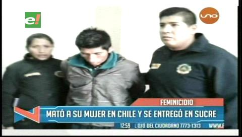 Boliviano buscado en Chile por feminicidio se entrega a la Policía en Sucre