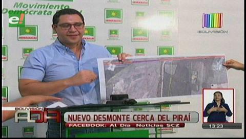 Diputado Monasterio denunciará a la Sinohydro por nueva deforestación