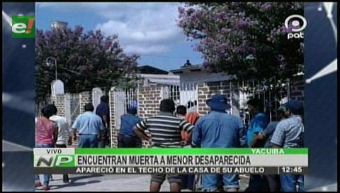 Yacuiba: Hallan sin vida a una menor desaparecida